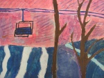 """Sugarloaf"" by Catherine Pellegrini, grade 6, Cape Elizabeth Middle School, Marguerite Lawler-Rohner, art teacher"
