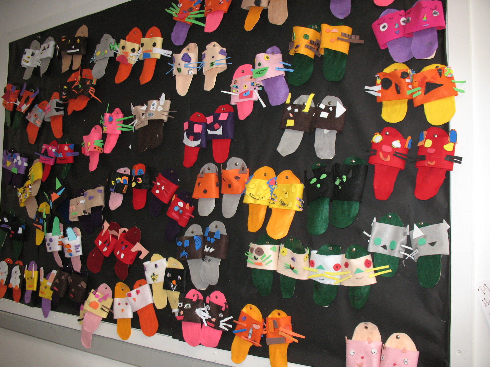 Was wowed by the display in the hallway of tiny slippers that were