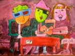 """3 Musicians"" Kara Rawlings, Gr. 8, Skowhegan Middle School"