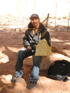 Young Navajo artist whose grandparents live in the canyon during the summer