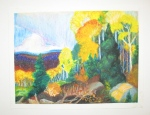 """Rolling Forest Hills"" Veronica Jones, Maranacook Community High School, Grade 10, Art Teacher: Linda Nichols Phillips"