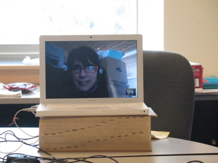 Pam Kinsey on Skype from Aroostook county