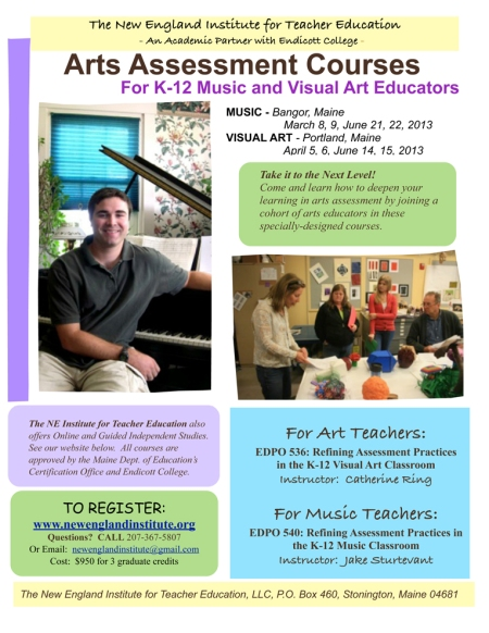 Art:Music Assessment Flyer