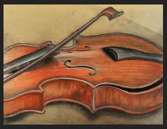 """""""Violin"""", by Hannah Wells of Camden Hills Regional High School, grade 12"""