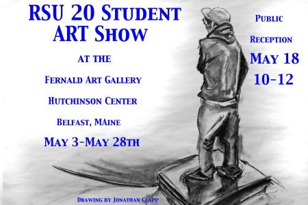 RSU20 Student Artshow poster 2013