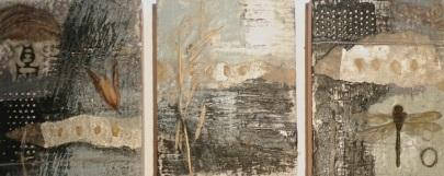 Cam Davis, encaustic triptych