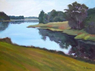 Diane Noble, Tidal Cove - Tenant's Harbor, acrylic -