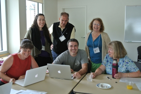 Team Bonny Eagle (MSAD #6) working on their district arts ed plan