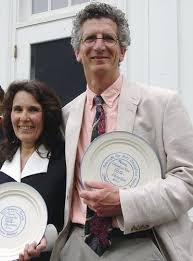Stuart and wife Susan Webster receiving the Maine Alliance for Arts Education Advocacy award in 2012