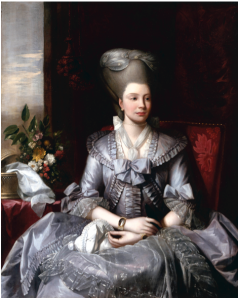 Image Credit: Benjamin West (United States, 1738-1820), Queen Charlotte, circa 1776, oil on canvas, 50 x 40 1/4 inches. The Berger Collection at the Denver Art Museum, TL-19057