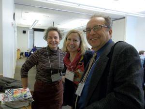 Amy Cousins with Jennie Driscoll and Brian McPherson at an MAAI Mega-regional workshop