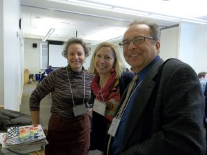 Amy Cousins with Jennie Driscoll and Brian McPherson at an MAAI Mega-regional workshop