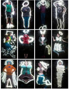 """light-painted selfies"" on display at Harlow Gallery Nov 6-28"
