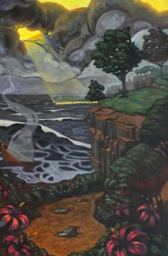 Nathaniel Meyer, Wreck of the Venus, 2013, oil on canvas, 36″ x 24″