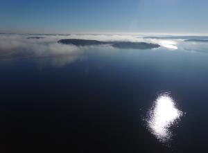 Moshier Island w/Fog, Maximo Steverlynck-Horne, Freeport Middle School, Grade 8