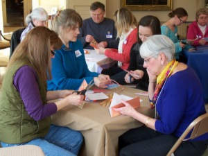 Participants in Catherine Ayer's bookmaking workshop