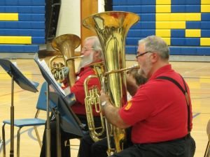 Ian Smith between Bridgton Low Brass