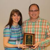 MMEA President (now past president) with David Watts