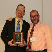 Dana with his college friend and music educator