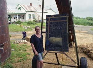 CSA 2012: Artist Kate Emily Barnes was paired with Grassland Organic Farm in Skowhegan