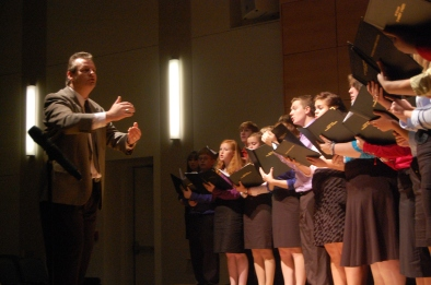 Rick conducting at the opening of the 2011 Statewide Arts Education conference
