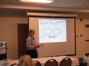 Ann Marie Quirion Hutton presenting