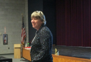 Sue Barre presenting Bringing it all Together, her assessment system