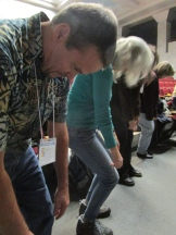 Teachers during the movement session with Teaching Artist Nancy Salmon
