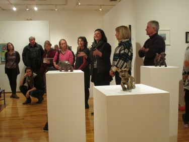 The opening at USM art gallery, Gorham