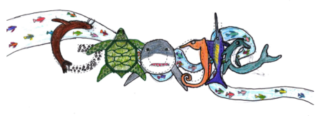 "Medomak Middle School seventh-grader Ruth Havener won the Doodle 4 Google statewide competition with ""The Same Ocean in the Future."""